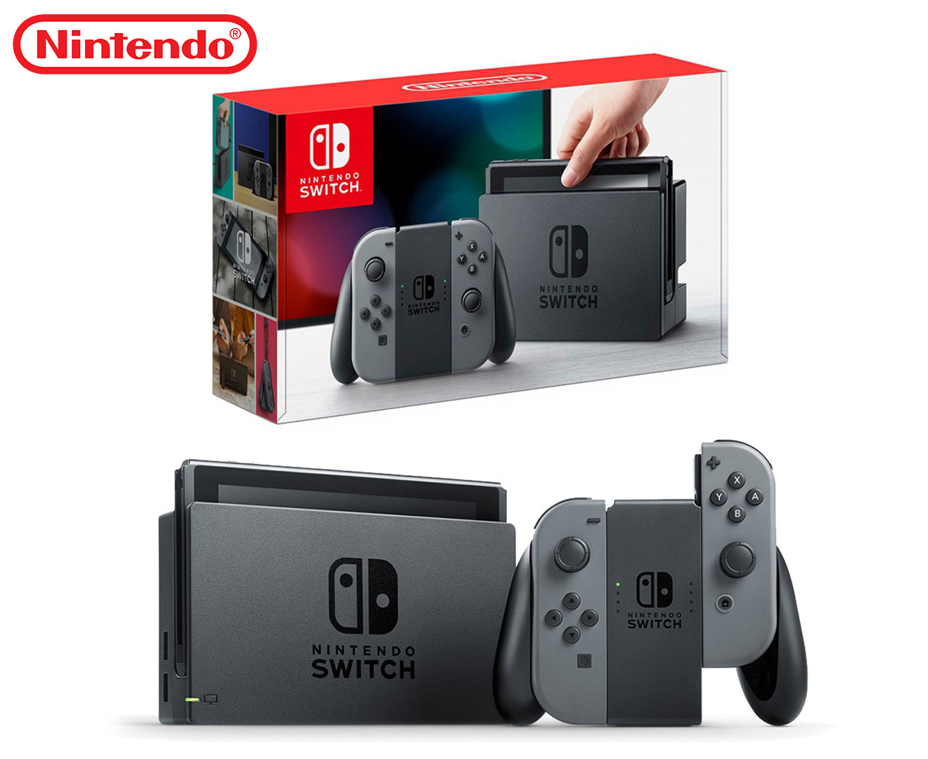 Nintendo switch joy con console grey great daily deals at australia 39 s favourite superstore - How to console into a switch ...