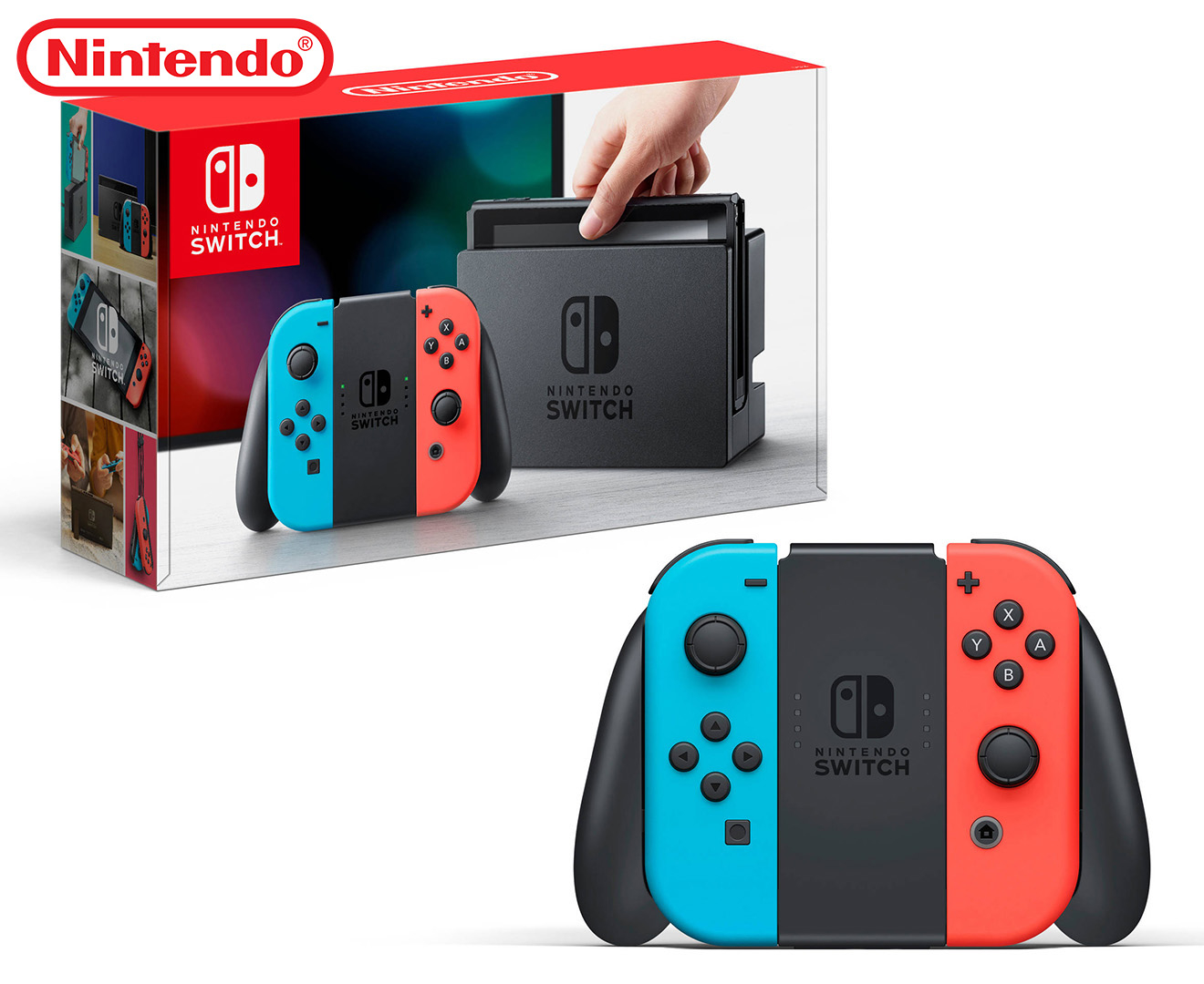 Nintendo switch joy con console neon red neon blue great daily deals at australia 39 s - How to console into a switch ...