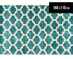 Zen Collection 160 x 110cm Patterns Rug - Blue 1