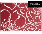 Modern Flower Outline 230 x 160cm Rug - Red 1