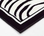 Rug Culture 230x160cm Zebra Print Rug - Black/White 2