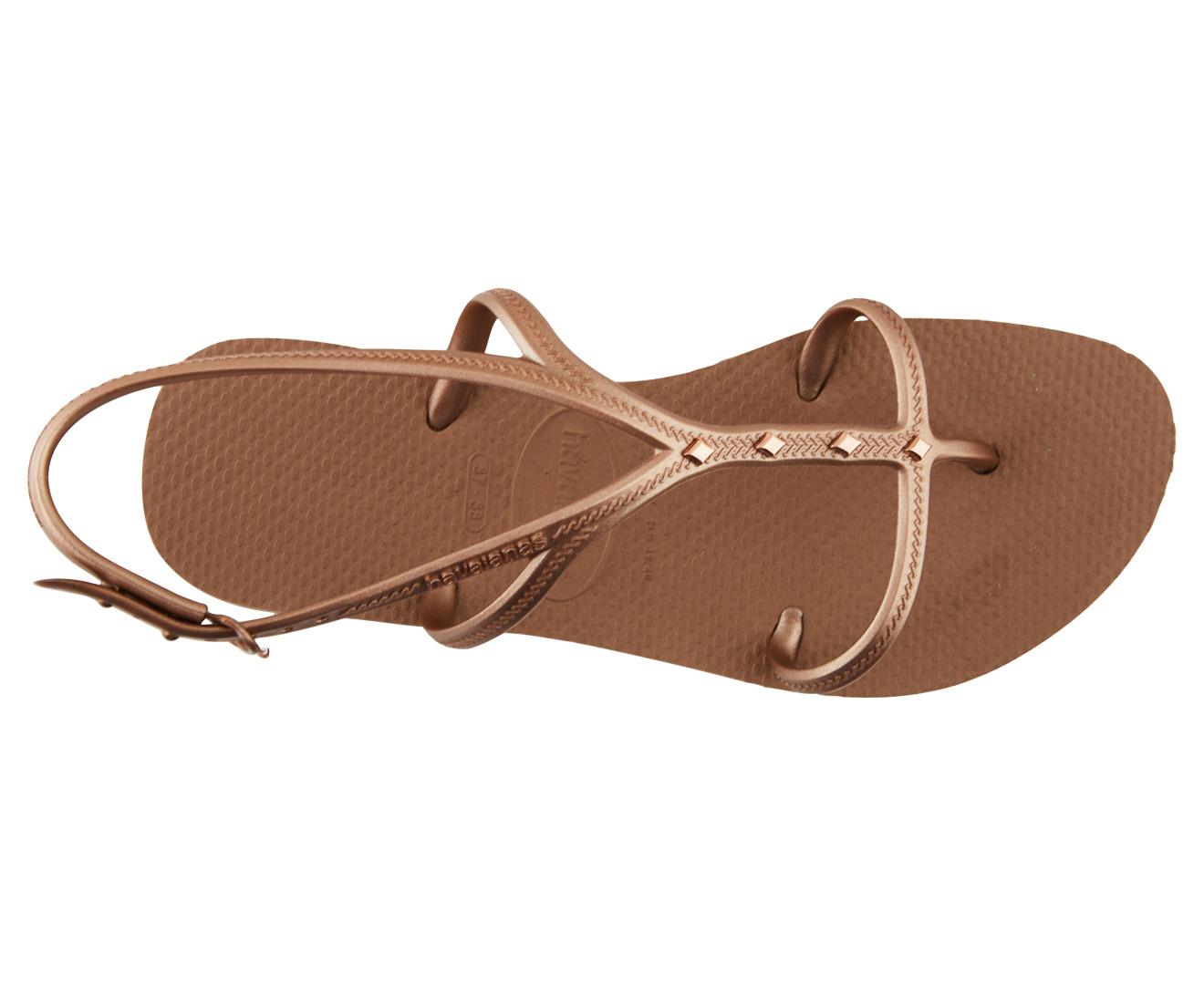 6ab397dd38f8 Havaianas Women s Allure Maxi Flip Flop w Strap - Rose Gold