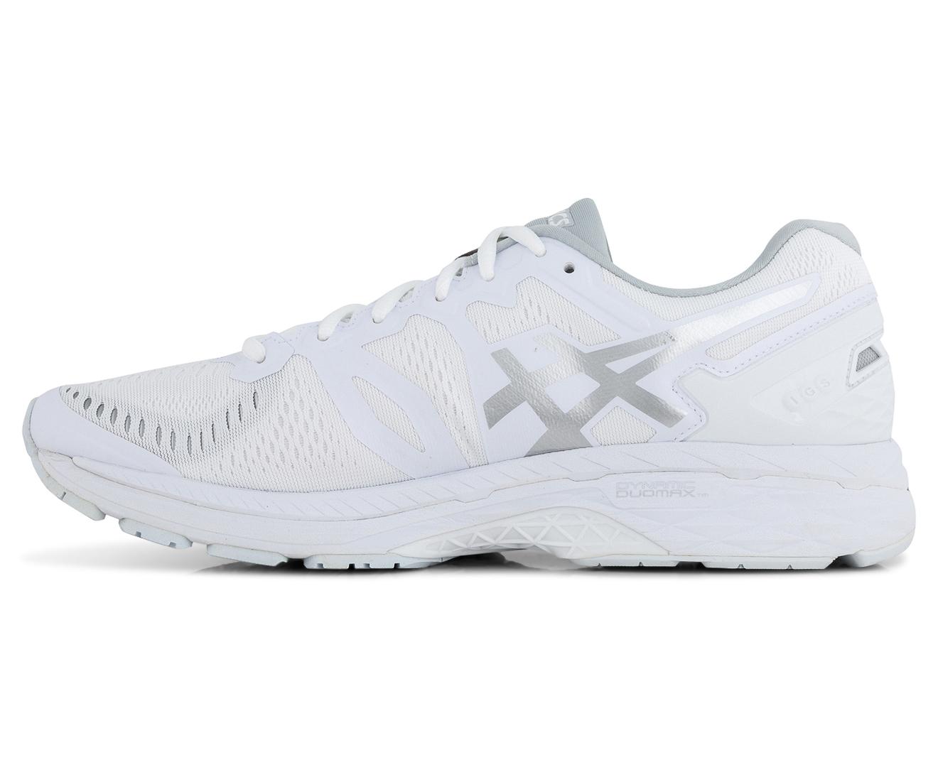 info for a1ef4 cdb59 ASICS Men's GEL-Kayano 23 Shoe - White/Snow/Silver