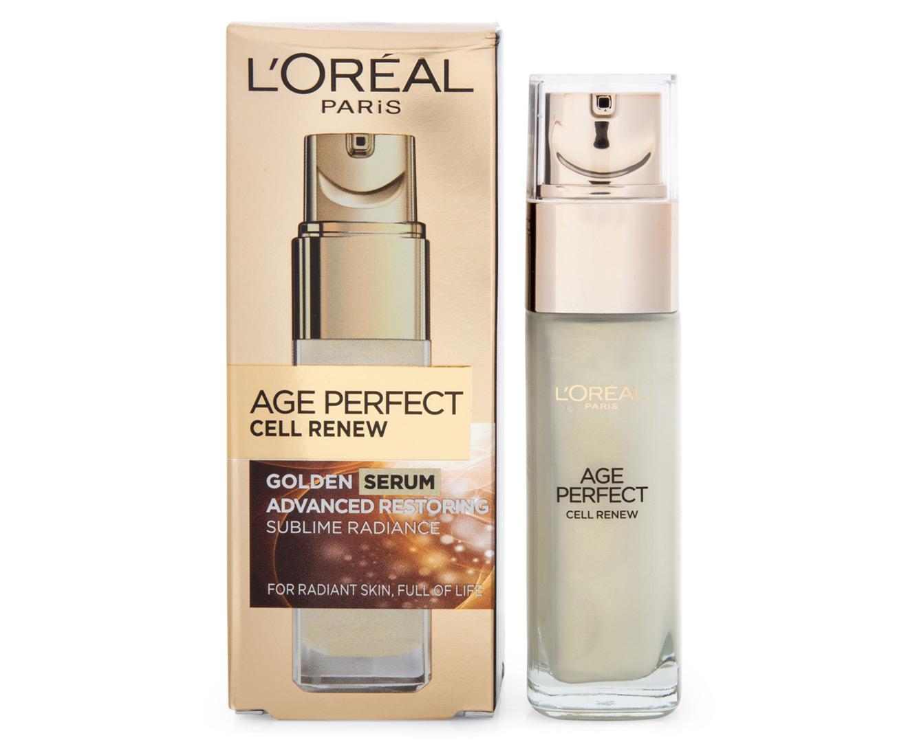 L Or 233 Al Age Perfect Cell Renew Golden Serum 30ml Scoopon