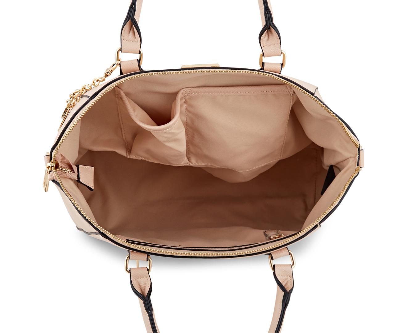 Urban Status Grip Handle Bowler Bag - Beige 713317d8ba86e