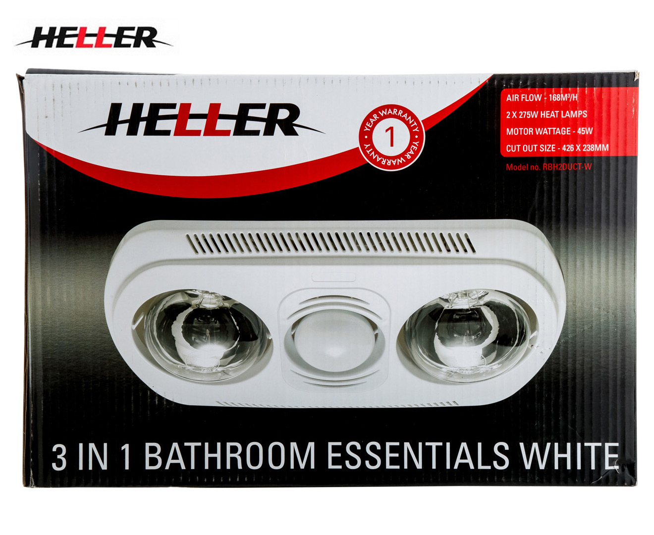 Heller 2 Heat 3 In 1 Bathroom Essential White Great Daily Deals At Australia 39 S Favourite
