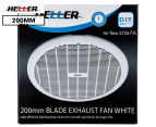 Heller 200mm Blade Exhaust Fan - White 1