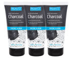 3 x Beauty Formulas Activated Charcoal Facial Scrub 150mL 1