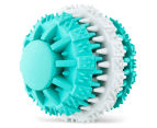 2 x VitaPet Dental Fresh Breath Rubber Ball Toy - Green/Grey 3