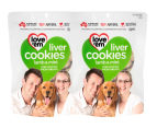 2 x Love'em Lamb & Mint Dog Cookies 450g 1