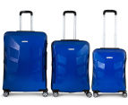 Pierre Cardin Expandable 3-Piece Hardshell Super Light Luggage - Royale Blue 2