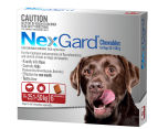 NexGard Flea & Tick Control Chews for XL Dogs 25.1-50kg 6pk 1