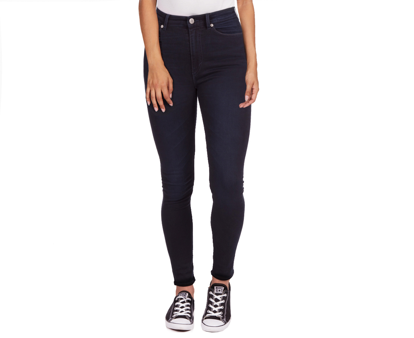You'll love the solid black wash on the High Spray Jeans by Cheap Monday. Designed with a high-rise waistline, these jeans will go with all your favourite t-shirts and crop .