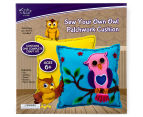 Craft Kits For Kids: Sew Your Own Owl Patchwork Cushion 1