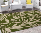 Tea Leaves 320x230cm UV Treated Indoor/Outdoor Rug - Green 2