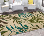 Colour Leaves 220x150cm UV Treated Indoor/Outdoor Rug - Multi 2
