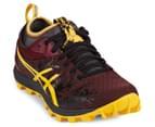 ASICS Men's GEL-FujiRunnegade Shoe - Royal Burgundy/Spectra Yellow/Black 2