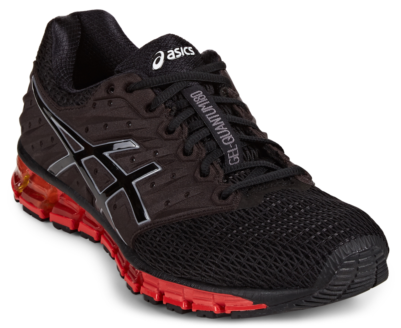asics men 39 s gel quantum 180 2 black onyx vermilion great daily deals at australia 39 s. Black Bedroom Furniture Sets. Home Design Ideas