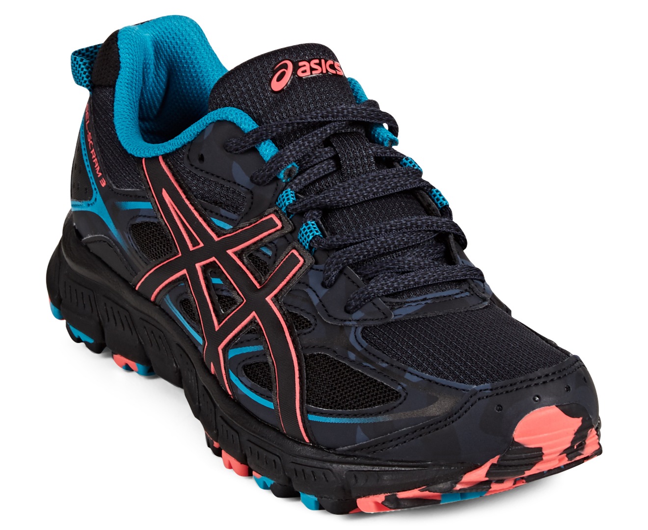 new arrival 42fa0 303c4 ASICS Women's GEL-Scram 3 - Anthracite/Black/Columbia Sea