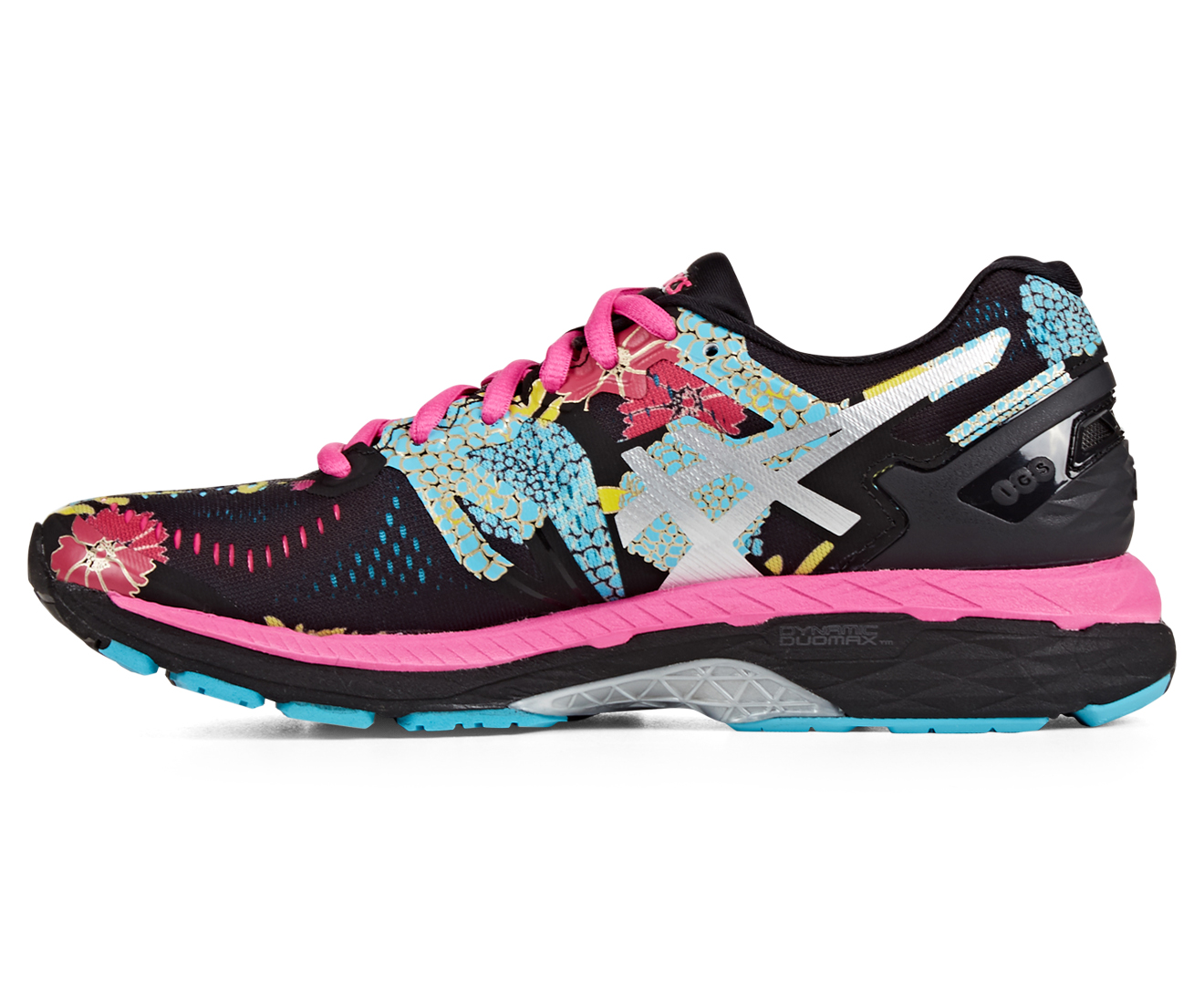 c26a93cef2f6 ASICS Women s GEL-Kayano 23 Shoe - Black Silver Pink Glow