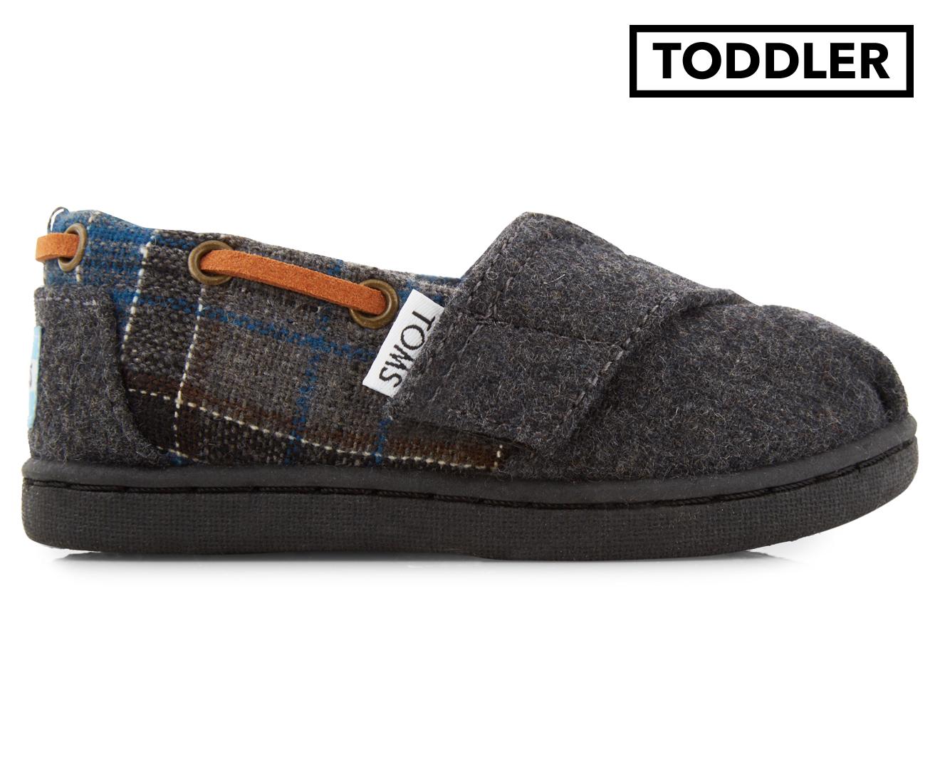 89e27ab48e3 TOMS Tiny Toddler Bimini Shoe - Blue Tartan