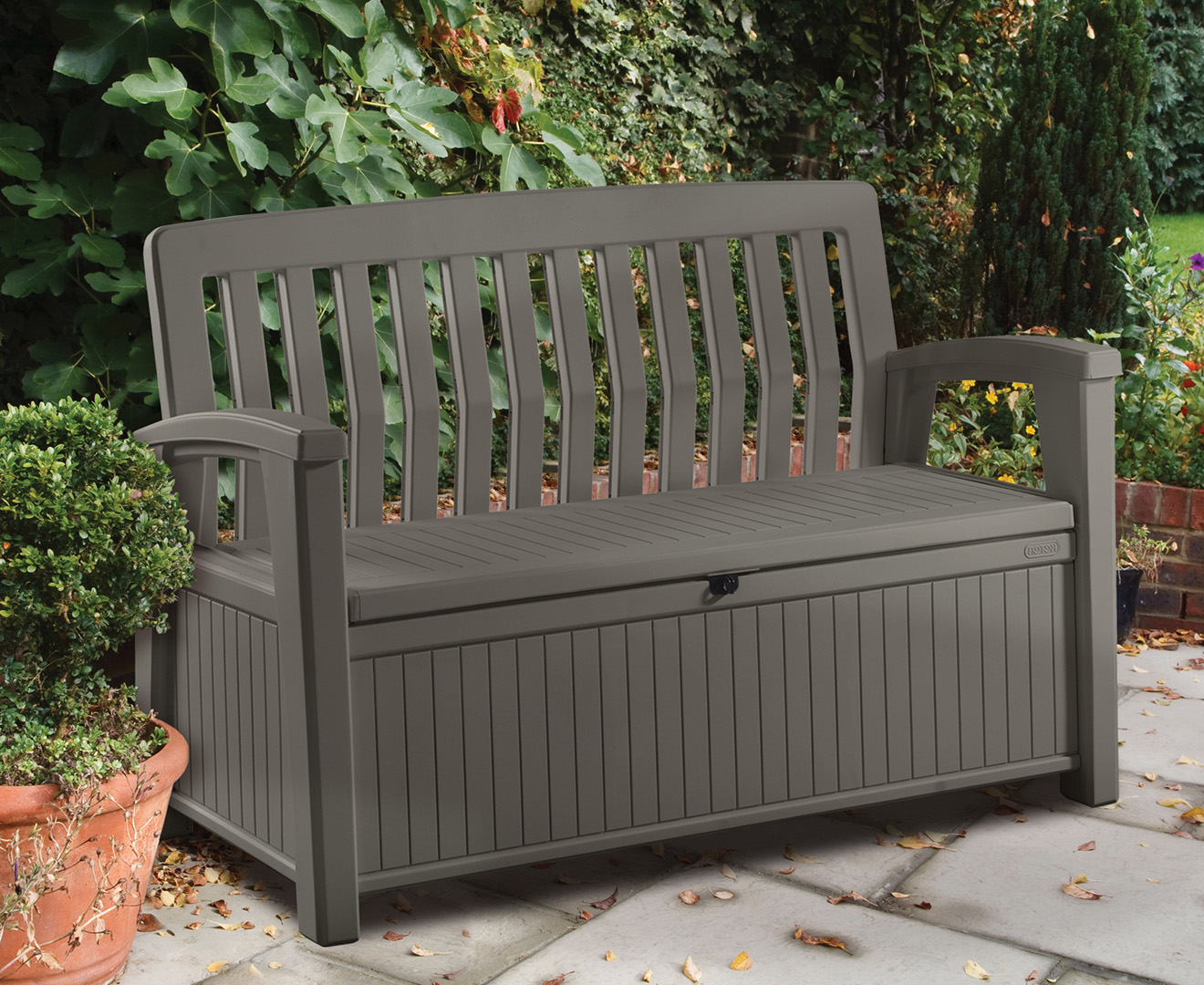 Keter Patio 227l Storage Bench Taupe Great Daily Deals