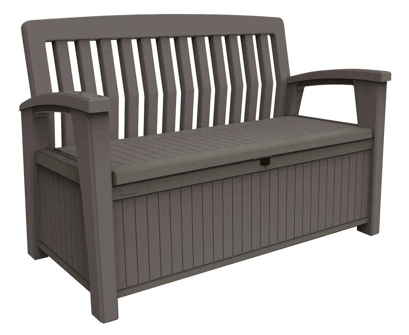 Keter patio 227l storage bench taupe great daily deals at australia 39 s favourite superstore Home furniture packages australia