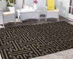 Columns 220x150cm UV Treated Indoor/Outdoor Rug - Brown 2