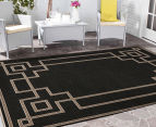 Borders 160x110cm UV Treated Indoor/Outdoor Rug - Charcoal 2
