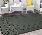 Borders 220x150cm UV Treated Indoor/Outdoor Rug - Grey 2