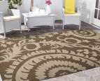 Floral Medallion 320x230cm UV Treated Indoor/Outdoor Rug - Brown 2