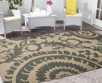 Floral Medallion 220x150cm UV Treated Indoor/Outdoor Rug - Cream 2