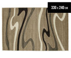 Rug Culture 330x240cm Modern Waves Rug - Beige 1