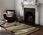 Rug Culture 330x240cm Modern Waves Rug - Beige 2
