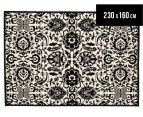 Rug Culture 230x160cm Funky Lace Rug - Black/White 1