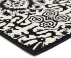 Rug Culture 230x160cm Funky Lace Rug - Black/White 2