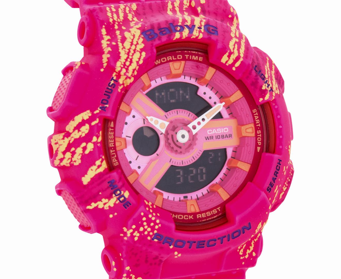 2cbc1243ceaed Casio Baby-G Women s 46mm BA110TX-4A Digital Chrono Watch - Pink ...