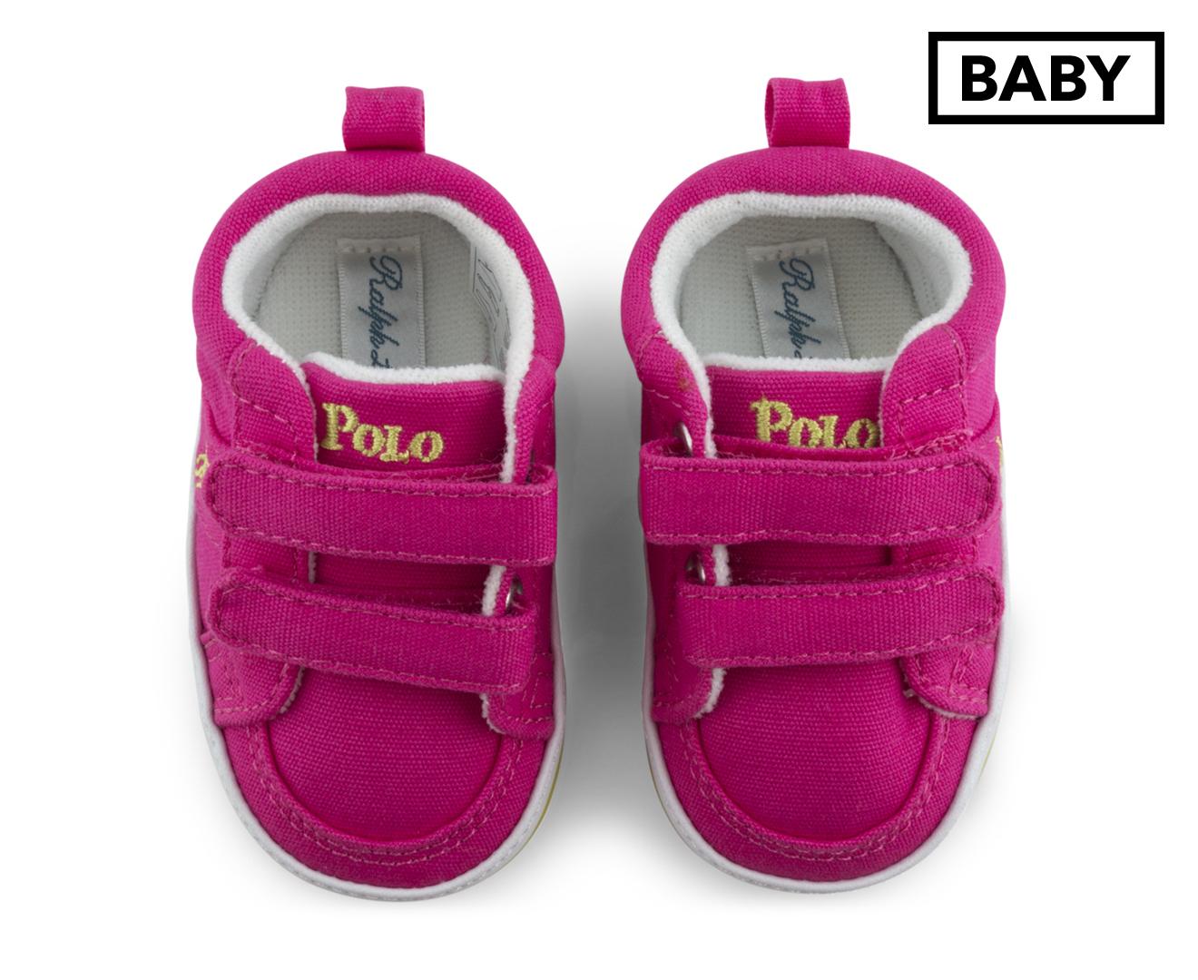 Ralph Lauren Polo Baby Humberto EZ Shoe Bright Pink Lime
