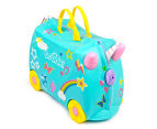 Trunki Kids' 46x32cm Una Unicorn Carriage Ride-On Suitcase - Aqua 1