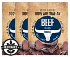 3 x Doctor Proctors Australian Beef Biltong Original 30g 1