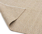 Kesa 320x230cm Cotton & Jute Collection Diamond Rug - Beige 2
