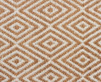 Kesa 320x230cm Cotton & Jute Collection Diamond Rug - Beige 4