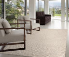Kesa 320x230cm Cotton & Jute Collection Diamond Rug - Beige 5