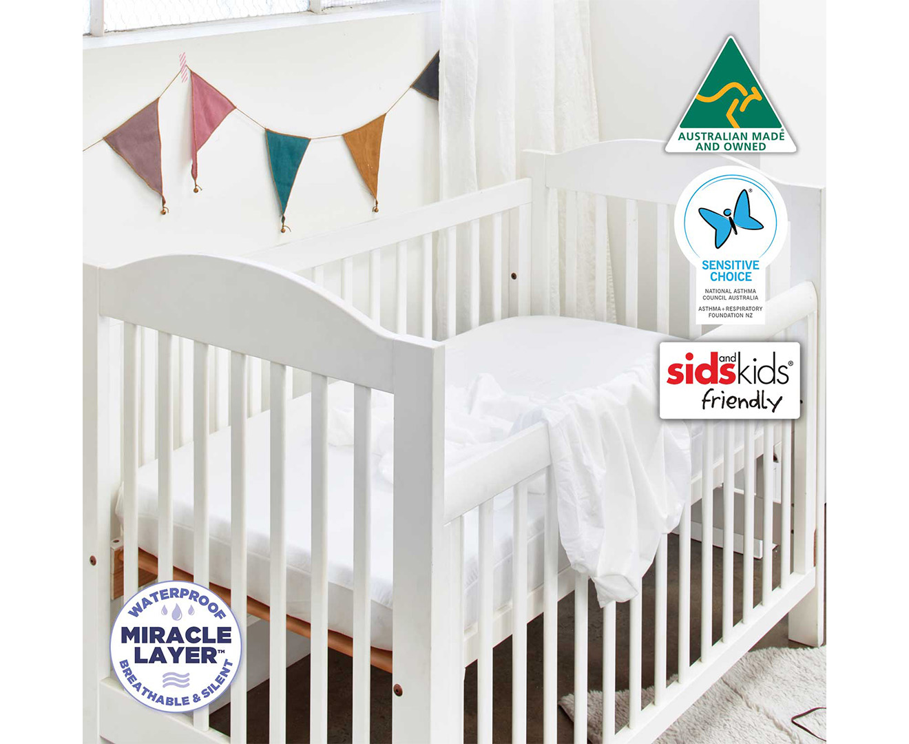 Protect A Bed Fitted Cot Twin Pack Waterproof Mattress