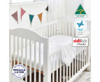 Protect-A-Bed Fitted Standard Cot Waterproof Mattress Protector 2Pk - White 3