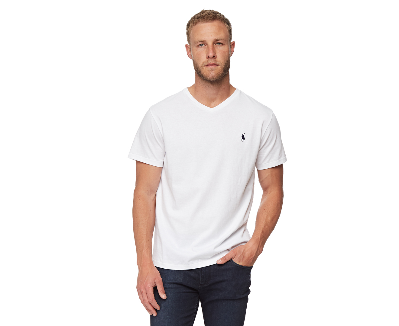 6125f21c1c Details about Polo Ralph Lauren Men's V-Neck Tee - White