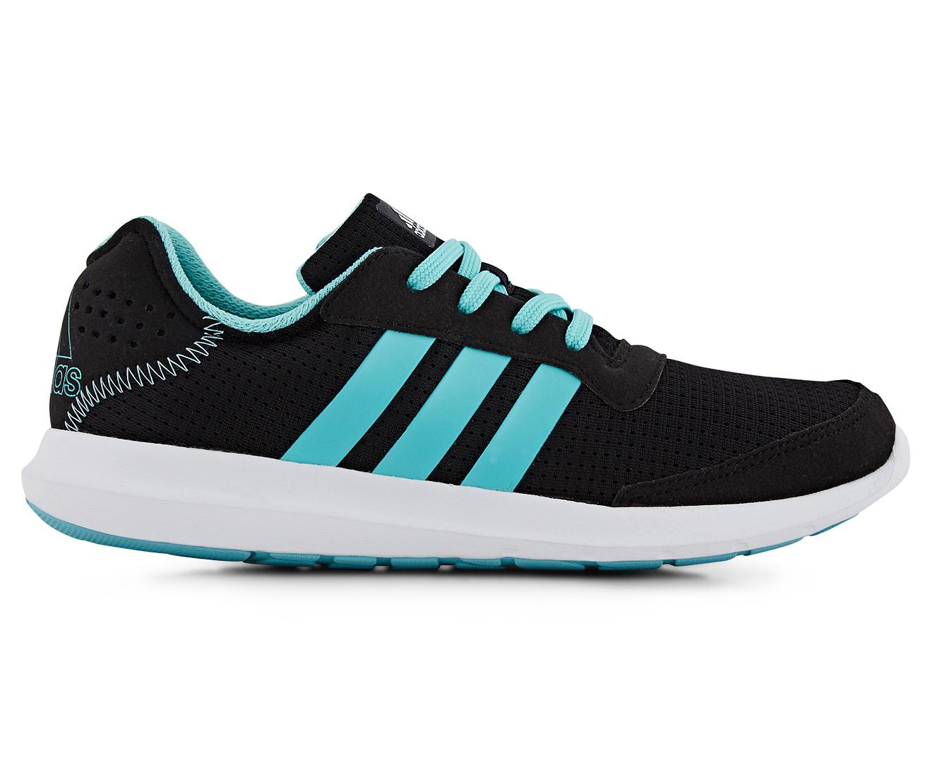 Adidas  mujer 's Element Refresh corriendo zapato Core Negro / facil Mint