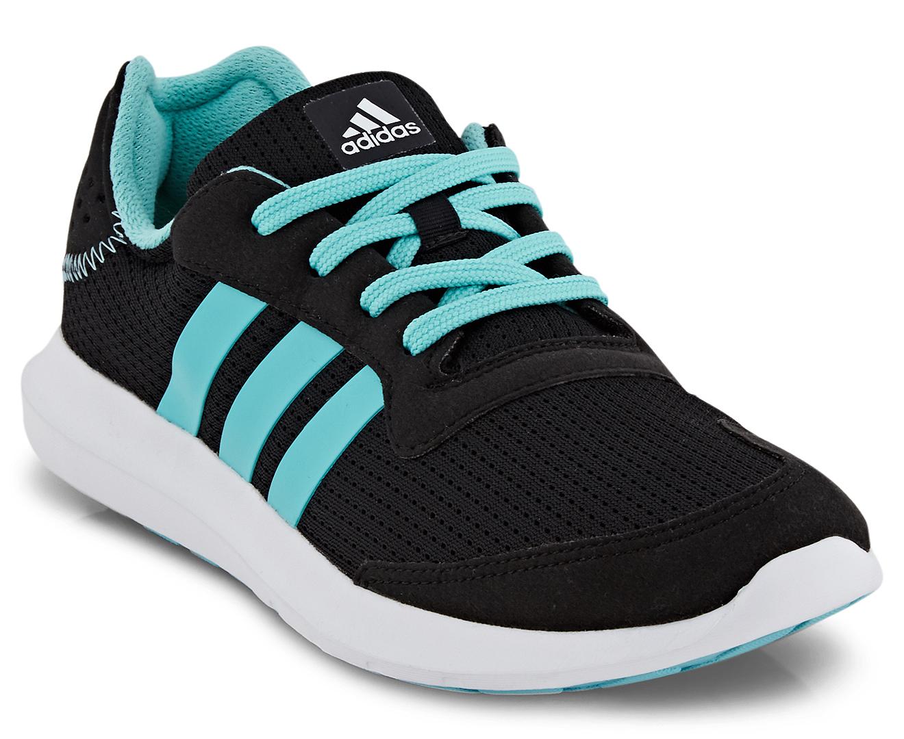 Women Adidas Element Refresh Athletic Running Training Shoes Blackblue BA7913 | eBay