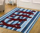Rug Culture 220x150cm Creative Kids Playtime! Rug - Blue/Red 2