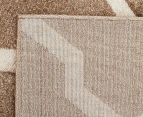 Rug Culture 400x80cm Iconic Shine Durable Contemporary Trellis Runner - Beige 5